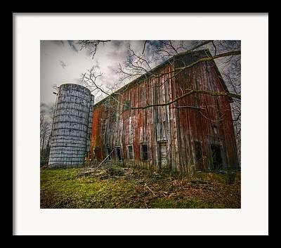 New England Barns Digital Art Framed Prints