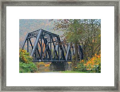 Pennsylvania Bridge Framed Print by Cindy Manero