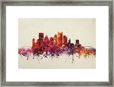 Pennsylvania Cityscape 09 Framed Print by Aged Pixel