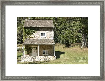 Pennsylvania Colonial Historical Home Framed Print by Andrea Hazel Ihlefeld
