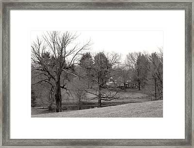 Pennsylvania Country House Framed Print