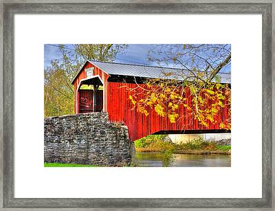 Pennsylvania Country Roads - Dellville Covered Bridge Over Sherman Creek No. 13 - Perry County Framed Print