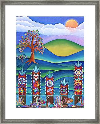 Framed Print featuring the painting Pennsylvania Dutch Hex Signs by Lori Miller
