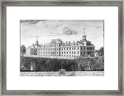 Pennsylvania Hospital, 1755 Framed Print by Granger