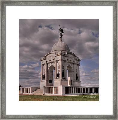 Pennsylvania Memorial At Gettysburg Framed Print