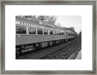 Framed Print featuring the photograph Pennsylvania Reading Seashore Lines Train by Terry DeLuco