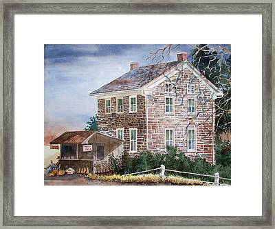 Pennsylvania Roadside Market Framed Print by Tony Caviston