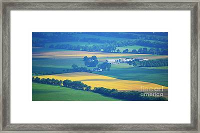 Pennsylvania Rolling Hills Farms Framed Print by Andrea Hazel Ihlefeld
