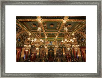 Pennsylvania Senate Chamber Framed Print by Shelley Neff