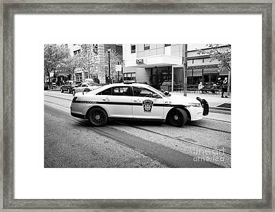 pennsylvania state trooper police cruiser vehicle Philadelphia USA Framed Print