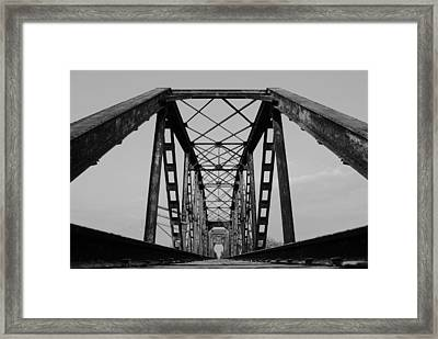 Pennsylvania Steel Co. Railroad Bridge Framed Print