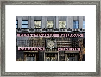 Pennsylvania Suburban Station -  Framed Print by Susan Candelario