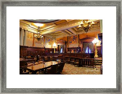 Pennsylvania Supreme Court  Framed Print by Olivier Le Queinec