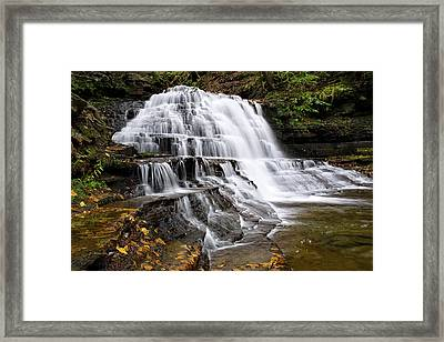 Framed Print featuring the photograph Pennsylvania Waterfall by Christina Rollo