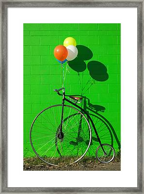 Penny Farthing Bike Framed Print by Garry Gay
