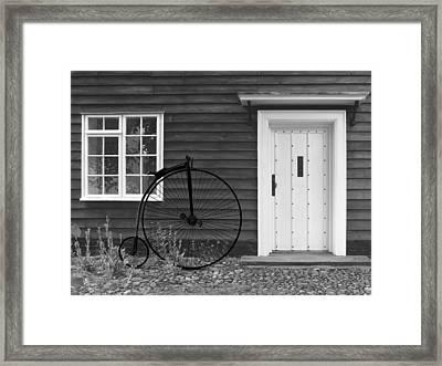 Penny Farthing Cottage Framed Print