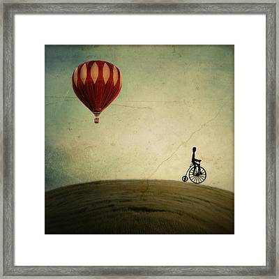 Penny Farthing For Your Thoughts Framed Print