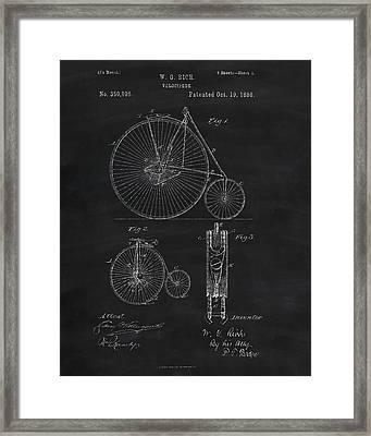 Penny Farthing Patent Art Framed Print