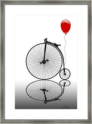 Penny Farthing Reflections Framed Print