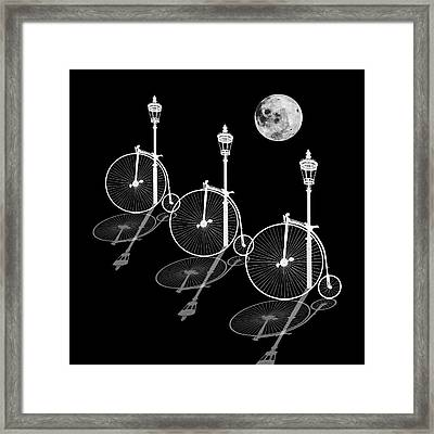 Penny Farthings Moonlight And Shadows Framed Print