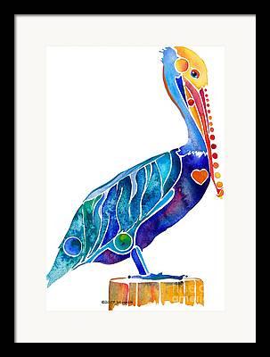 Florida Birds Framed Prints