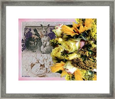 Penny Postcard Easter Framed Print by RC deWinter