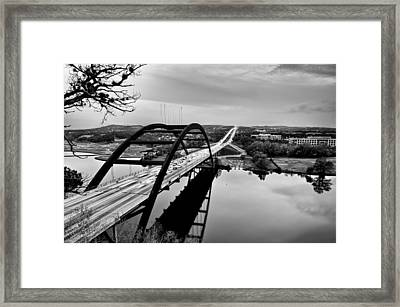 Framed Print featuring the photograph Pennybacker Bridge by John Maffei