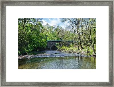 Framed Print featuring the photograph Pennypack Creek Bridge Built 1697 by Bill Cannon
