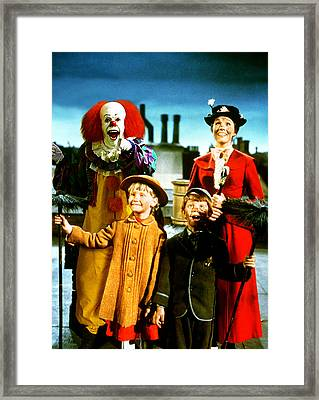 Pennywise In Mary Poppins Framed Print