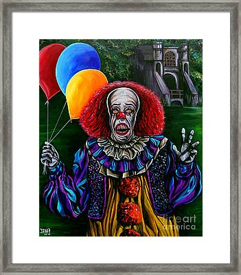 Pennywise It Framed Print by Jose Mendez
