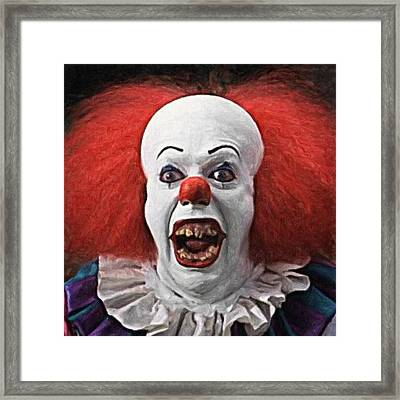 Pennywise The Clown Framed Print by Taylan Apukovska