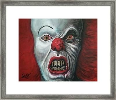 Pennywise Framed Print by Tom Carlton