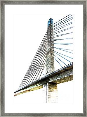 Penobscot Narrows Bridge And Observatory Framed Print