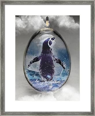Penquin Art Framed Print