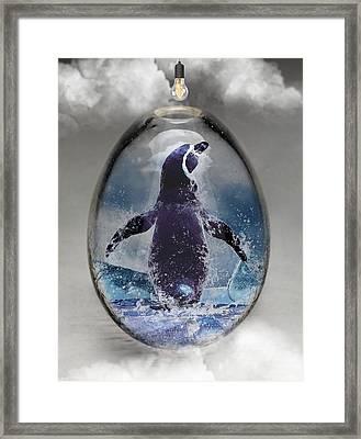 Penquin Art Framed Print by Marvin Blaine