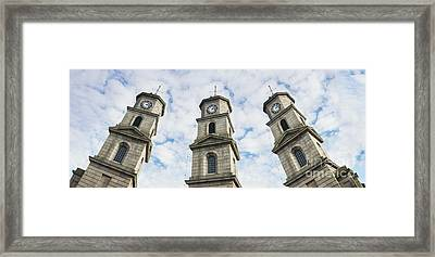 Penryn Clock Tower Framed Print by Terri Waters