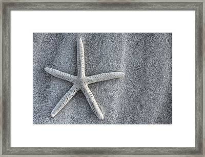 Pensacola Beach In Black And White Framed Print
