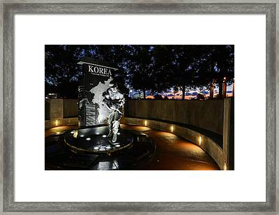 Pensacola Korean War Memorila Framed Print by JC Findley
