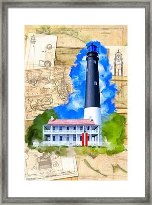 Pensacola Lighthouse - Florida Nostalgia Framed Print