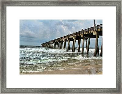 Pensacola Pier Framed Print by Teresa Dunlap