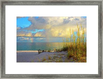 Pensacola Rainbow At Sunset Framed Print