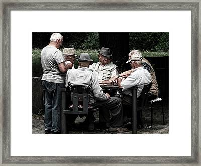 Pensioners Card Game Framed Print
