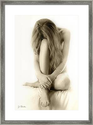 Pensive Framed Print by Joe Bonita