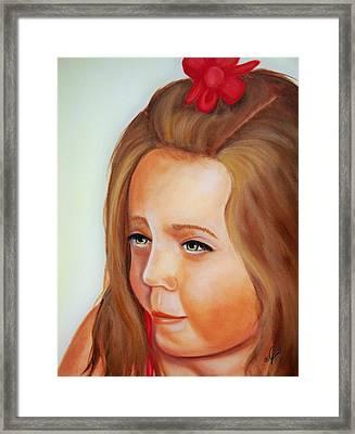 Pensive Lass Framed Print by Joni McPherson