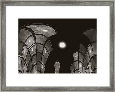 Framed Print featuring the photograph Pensive Nude In A Surreal World by Joe Bonita