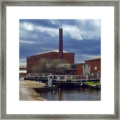 Pensive Sky On The Walk Into Leeds Framed Print by Dante Harker