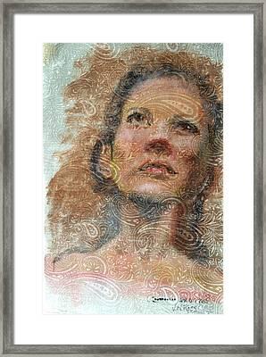 Pensive Framed Print by Vicki Ross