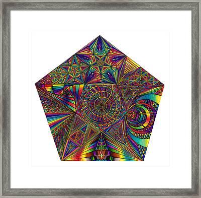 Pentacles Framed Print