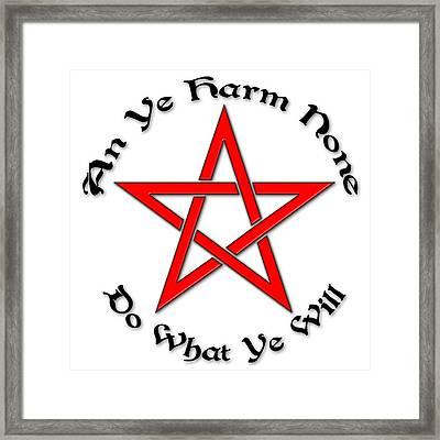 Pentagram Framed Print