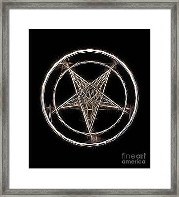 Pentagram Symbol By Raphael Terra Framed Print